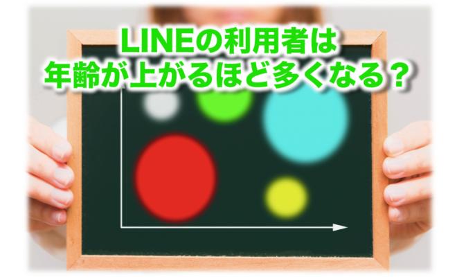 LINE利用者の年齢分布